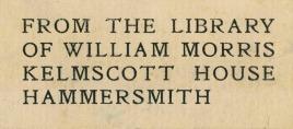 Morris bookplate